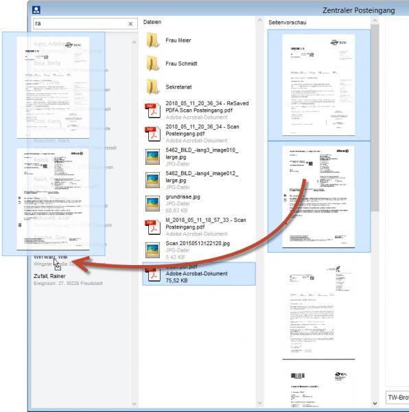 Gescannte Seiten zu PDF direkt beim Klienten überführen